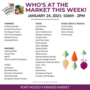 Who's at the market January 24