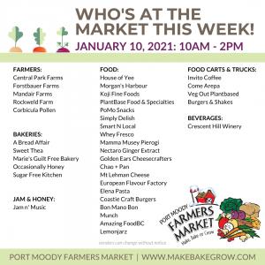 Market Vendors January 10